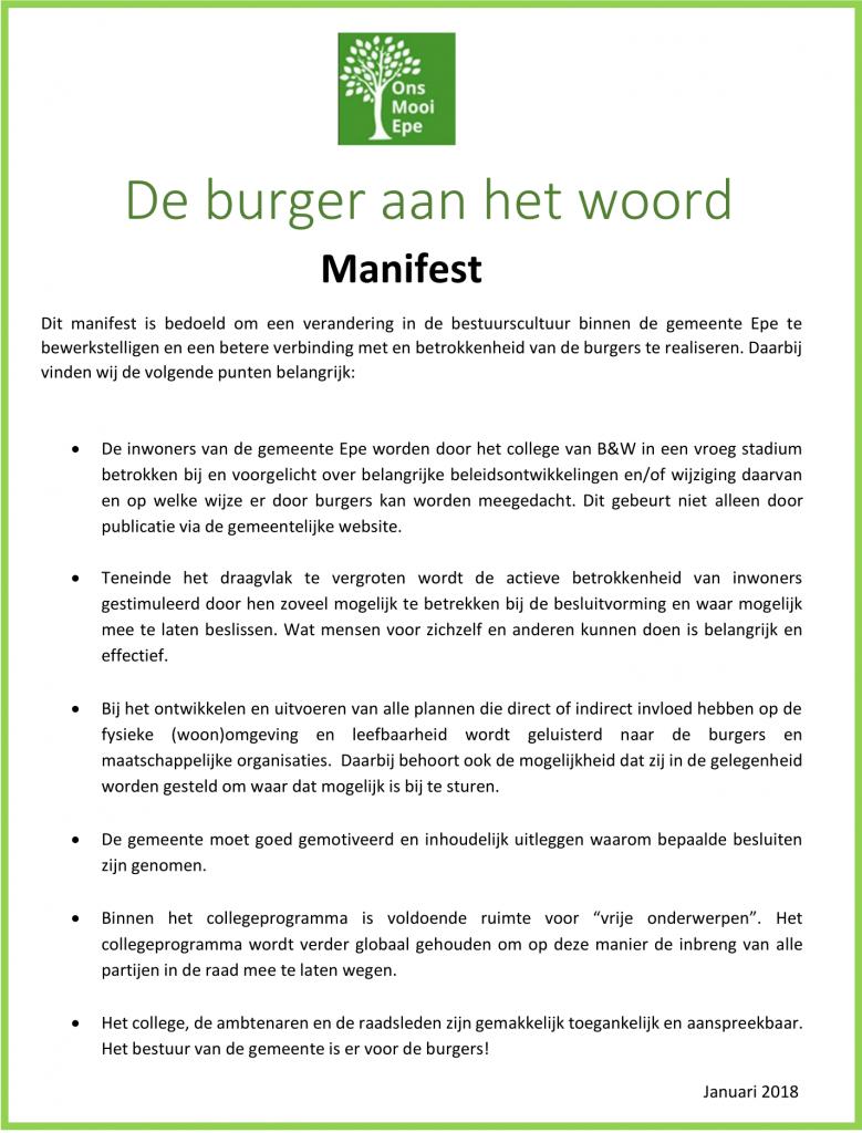 Manifest jan 2018